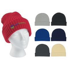 #advertising # promoproducts Promotional Knit Beanie with Cuff   Customized Knit Beanie with Cuff   Logo Beanie Caps