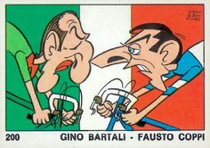 Bruno Prosdocimi, 'Gino Bartali - Fausto Coppi' in 'Ok VIP', Panini, Modena, 1973
