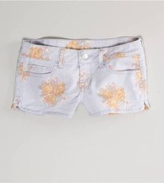 ShopStyle: AE Floral Denim Shortie