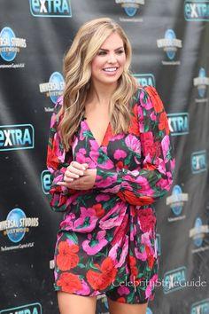 Bachelorette's Hannah Brown Wears the Prettiest Floral Dress   Celebrity Style Guide