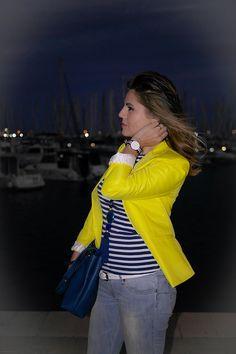 ESTILISMO CON ROMY: Outfit Navy: Daniel Wellington & Yellow