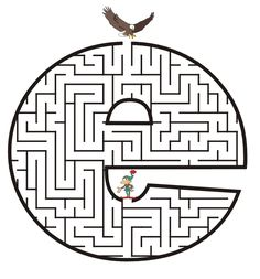 Free Printable Maze of the letter e