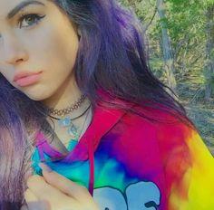 Maggie, I love her purple hair! I want it so bad.