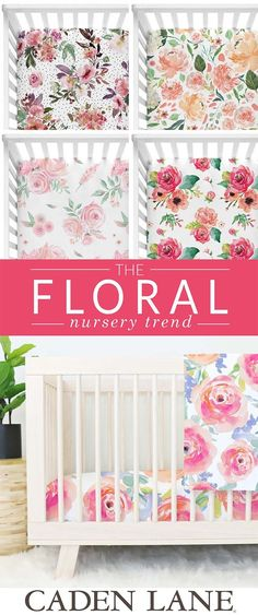 Can you SMELL the sweetness in these nurseries? We are obsessed with the floral accents in the nursery,  now... to pick your favorite one!