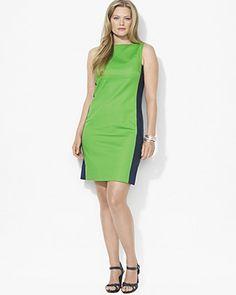dbd8da75 Lauren Ralph Lauren Plus Color Blocked Shift Dress   Bloomingdales Boat  Neck Dress, Plus Size