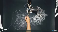Watch this human and robot make beautiful art together music film, art projects, drawing Photo Projects, Art Projects, Watercolor Video, Robot Arm, Behance, Music Film, Mark Making, Community Art, Easy Drawings