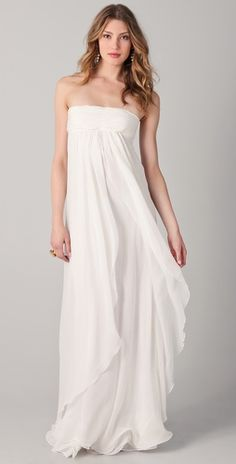 Rachel Zoe-Elle Empire Petal Gown  Love this! But I think people would think I'm a bride wannabe...