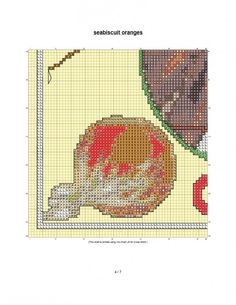 free cross stitch pattern Seabiscuit fruit crate label
