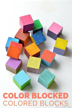 Color Blocked Colored Blocks with @PlutoniumPaint - Mad in Crafts
