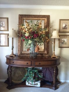 Home Entrance Decor, Entryway Decor, Home Decor, Foyer Decorating, Tuscan Decorating, Tuscan Furniture, French Country Dining Room, Basement Furniture, World Decor