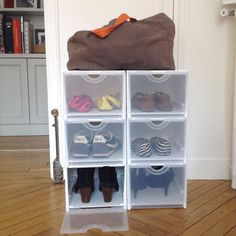 1000 images about rangement chambre et dressing on for Range chaussures dressing