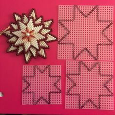 35 best canvas crosses images onstars or star flowerFind this Pin and more on Navidad. Fun With Plastic Canvas!The best Star template ideasImage only/no pattern Plastic Canvas Stitches, Plastic Canvas Coasters, Plastic Canvas Ornaments, Plastic Canvas Tissue Boxes, Plastic Canvas Crafts, Plastic Canvas Patterns, Plastic Canvas Christmas, Canvas Designs, Star Ornament