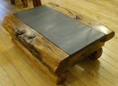 Wood Slate Coffee Table