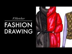 PUFFER JACKETS P.1 (Drawing)| Fashion Drawing - YouTube