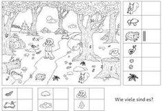 """Das ging letztlich doch weitaus schneller, als ich dachte....Ich habe der Rubrik """"Mini Herbstwerkstatt"""" unter """"Jahreszeiten"""" eine ausführlichere Erklärung beigefügt, so dass ich Number Worksheets Kindergarten, Worksheets For Kids, In Kindergarten, Elementary Science, Science Classroom, Science Area, Nursery School, Forest Animals, Colour Images"""