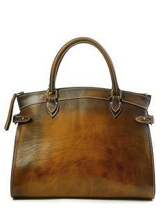 Estoi Leather Tote (Tan) from Sandast...I am not a girly girl, but I LOOOVE this bag and must have it!