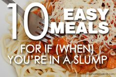 10 easy meals