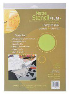 Amazon.com: Grafix 9-Inch-by-12-Inch Stencil Film Matte; 4-Pack: Arts, Crafts & Sewing