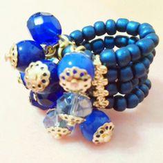 Anel pinduricalhos sonho azul