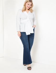 View our Long Sleeve Wrap Top and shop our selection of plus size designer women's Tops, plus size clothing and fashionable accessories. Designer Plus Size Clothing, Plus Size Designers, Curve Fashion, Plus Size Fashion, Plus Size Pants, Plus Size Tops, Oversized White Shirt, Long Sleeve Wrap Top, Pastel Fashion