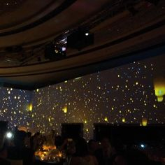 Hong kong Private Wedding! Wrapped ballroom with projection! 270 Projection.  Skylantern Finale! Check our video on: https://vimeo.com/102588716  #hkluxurywedding #hkevent #hkwedding #luxurywedding #skylanternprojection