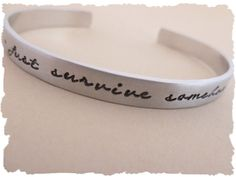 JSS Just Survive Somehow Inspirational Cuff