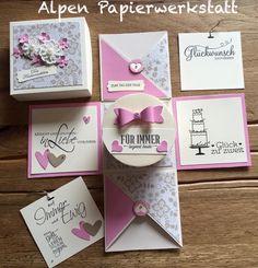 Geldgeschenke - Geldgeschenk / Explosionsbox zur Hochzeit Dose - ein Designerstück von AlpenPapierwerkstatt bei DaWanda