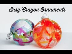 Art The Swell Life: DIY Crayon Drip Holiday Ornaments- use up those broken crayons! i-have-no-skills Decoration Christmas, Noel Christmas, Diy Christmas Ornaments, Winter Christmas, Glass Ornaments, Ornaments Ideas, Christmas Balls, Glitter Ornaments, Beaded Ornaments