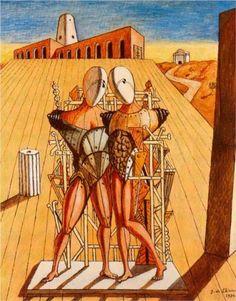 Giorgio de Chirico (1888 - 1978) | Metaphysical Art | The Dioscuri - 1974
