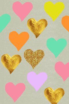Hearts sparkle glitter iphone wallpaper