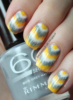 Ikat Chevron# Nails
