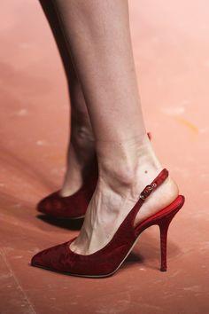 Red Velvet Slingback Pump by Dolce & Gabbana for Preorder on Moda Operandi