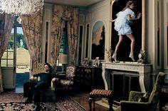 "Alice in Wonderland -- Annie Leibovitz. Alice going ""Through the Looking Glass"". Love, love, love this!!!!"