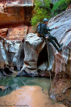 zions national park canyoneering.