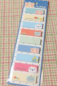 Memo stickers.