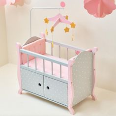 Olivias Little World Doll Nursery Crib Bed With Storage