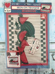 Vintage 1994 Plaid Homespun 57655 Watermelon Patch Iron-On Transfer. Great for a shirt, tote bag, pillow, Wallhanging, etc.. New Old Stock. View pictures for details.