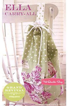 Ella Carry-All Tote Bag Pattern Grand Revival Pattern, Tanya Whelan - Fat Quarter Shop