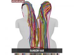 Promoted: RAINBOW HAIR - The Sims 4