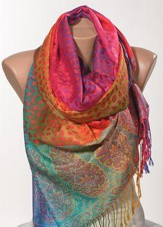 Las madres coloridas día Pashmina bufanda o chal o abrigo del cuello. Nueva temporada de regalo bufanda. A la venta.