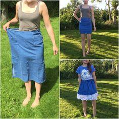 Spódnica jeansowa w roz 48 -> spódnica ołówkowa i spódniczka rozkloszowana