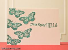CAS Butterfly stamp card. Soooo lovely!