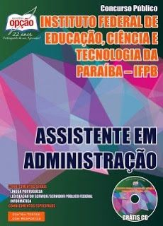 Nova -  Apostila do Concurso do IFPB 2015 - Assistente Administrativo  #apostilas