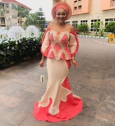 mercy-aigbe-aso-ebi-styles Hello divas, am sure will like Actress Mercy Aigbie. check the beautiful aso Ebi styles rock by Mercy Aigbe. Nigerian Lace Dress, African Lace Dresses, African Dresses For Women, African Attire, African Wear, African Fashion Dresses, African Women, Ankara Fashion, Ghanaian Fashion