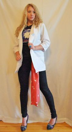 Stylish White Cotton Vintage Women's Blazer Jacket by POPWILDLIFE, $32.00