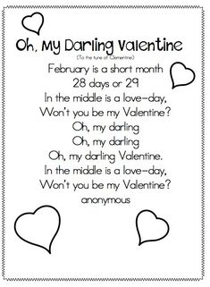 Joyful Learning In KC: Valentines Poems and Songs