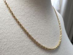 "14k Yellow Gold Chain Necklace Sign BBB 13.8g Rope Twist 20.5"" Solid 2.5mm NICE! #BaileyBanksBiddle #Chain"