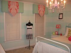 stripe walls and the valances- but different fabric