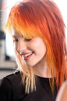 Hayley Williams-orange, red, and blonde