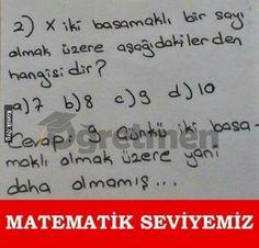 matematik seviyemiz
